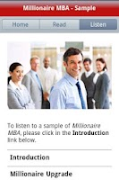 Screenshot of Millionaire MBA - Free Sample