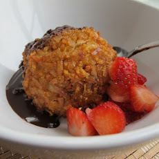 Coconut Cornflake Fried Ice Cream