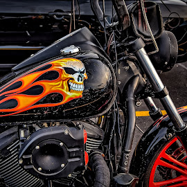 Ghost Rider by Ron Meyers - Transportation Motorcycles