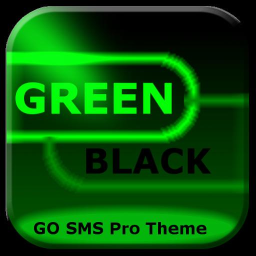 SMSグリーンブラックネオン行く 個人化 App LOGO-硬是要APP