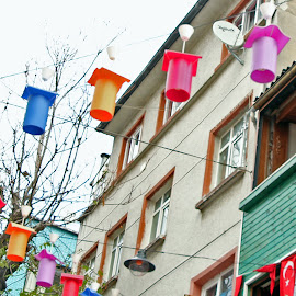 Colourful lanterns by Luci Henriques - City,  Street & Park  Neighborhoods