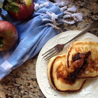 Fluffy Buttermilk Pancakes with Sautéed Apples