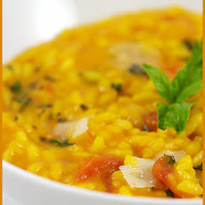 Tomato Risotto with Saffron