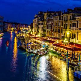 Venice by night by Adeline Tan - City,  Street & Park  Night ( , Urban, City, Lifestyle )