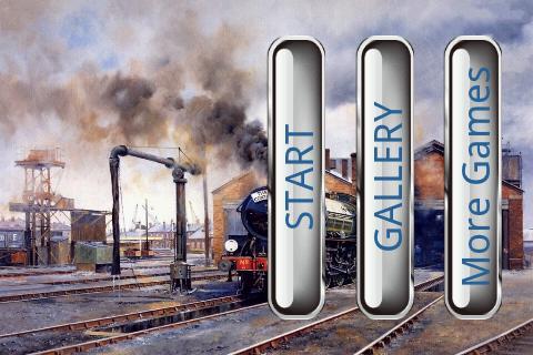 電車のパズル: 絵画