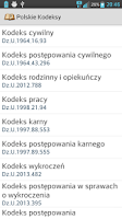 Screenshot of Polskie Kodeksy