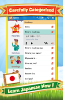 Screenshot of Learn Japanese: Phrase & Words