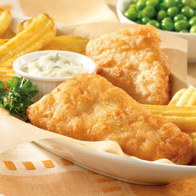 Fish and Chips with Horseradish Tartar Sauce