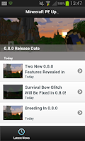 Screenshot of Update News - Minecraft PE