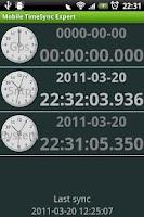 Screenshot of Mobile TimeSync Expert