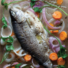Poached Trout With Onions and Fennel Seeds