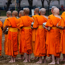 Candid Group by Paul Toscano - People Street & Candids ( buddhist group people lot many,  )