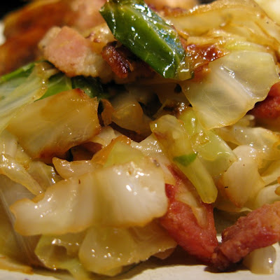 Bacon-Braised Cabbage
