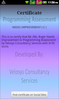 Screenshot of Programming Assessment(Pro)