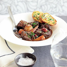 Braised Beef With Anchovy Toasts