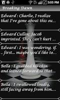 Screenshot of Twilight Breaking Dawn 1 Quote
