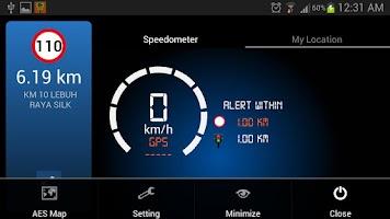 Screenshot of AES Location Detector