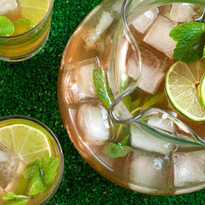 Mint and Lime Iced Tea