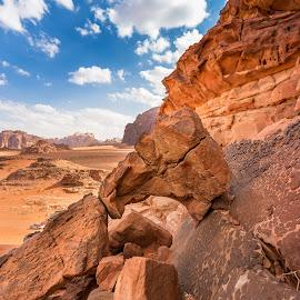 Wadi Rum window by Tamir Vaknin - Landscapes Deserts ( desert, jordan, wadi rum )