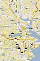 Screenshot of MBTA Bus Tracker Pro