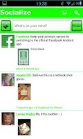 Screenshot of Green W Socialize for Facebook