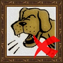 Stop dog barking icon