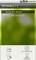 Screenshot of Sync Voice Note