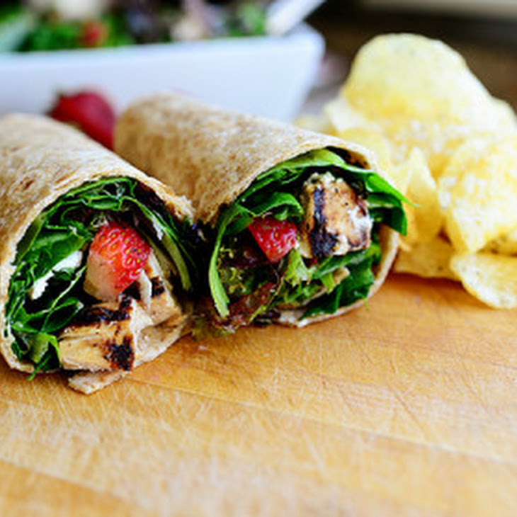 Grilled Chicken & Strawberry Salad Wrap Recipe | Yummly