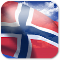 3D Norway Flag + icon