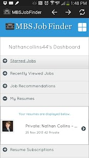 MBS Job Finder - screenshot