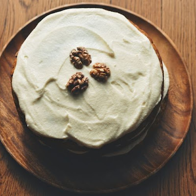 Everything Carrot Cake + Swiss Cream Cheese-Mascarpone Frosting