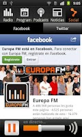 Screenshot of Europa FM Radio