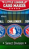 Screenshot of Little League® Card Maker
