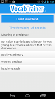 Screenshot of GRE VocabTrainer