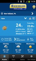 Screenshot of New Holland Farming Weather