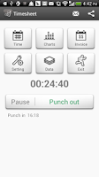 Screenshot of Timesheet - Work Time Tracker