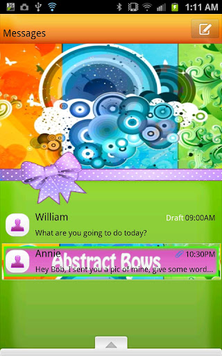 【免費個人化App】GO SMS - Abstract Bows-APP點子