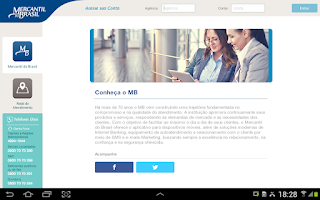Screenshot of Mercantil do Brasil