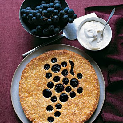 Concord Grape Jam Tart