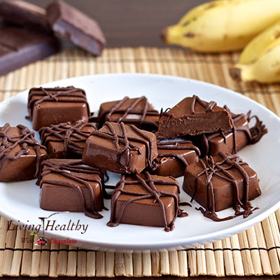 Frozen Peanut Butter, Chocolate & Banana Fudge Bites (paleo, gluten, grain, nut & peanut free)