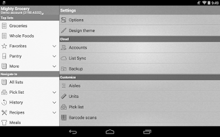 Screenshot of Mighty Shopping List Free