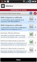 Screenshot of Universidad de Murcia App