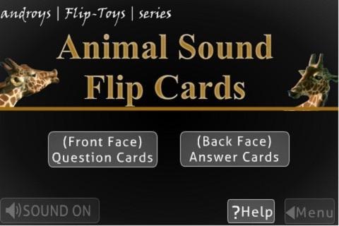 Animal Sound Flip Cards