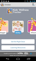 Screenshot of Kids' Wellness Tracker