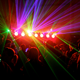 Blinded by the lights London 4 by Leigh Woodruffe - News & Events Entertainment ( lights, rave, london, party, warehouse )