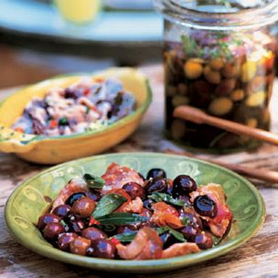 Warm Black Olives (Olives Sautées)