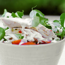 Chicken-Pea Shoot Salad Recipe