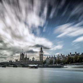 Clouds power -London by Emanuel Fernandes - Landscapes Cloud Formations ( water, clouds, england, london, big ben )