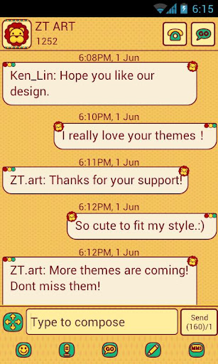 CuteLionテーマGO SMS