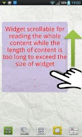 Screenshot of Scroll Memo Note Widget Lite